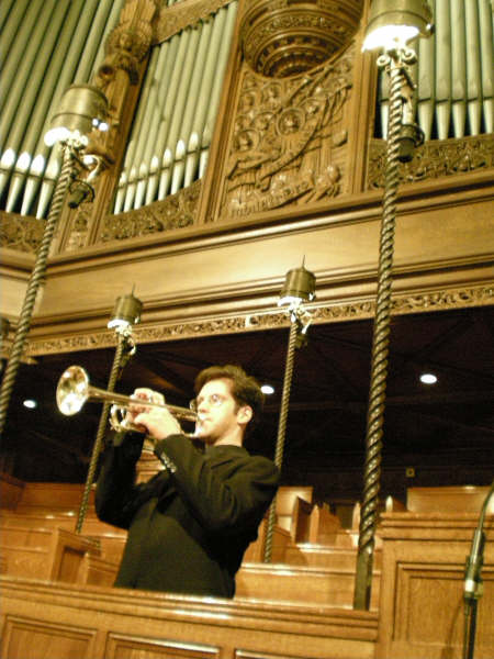 Jim Lake, trumpet soloist at St Patrick's Cathedral, NYC